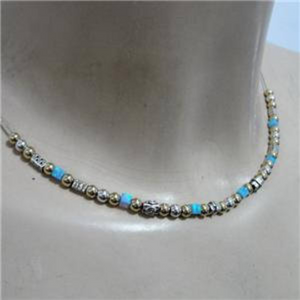 Hadar Jewelry Handmade 14K Gold Fil 925 Sterling Silver Opal Necklace (L)