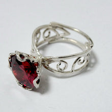 New israeli Handmade 925 sterling silver woman unique 10mm Cz ring (e 10007)