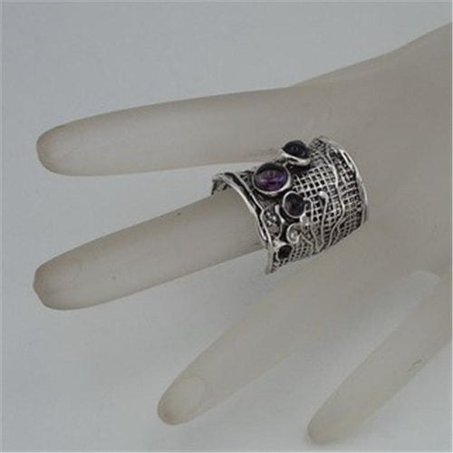 Sterling Silver Amethyst Ring (H 144)