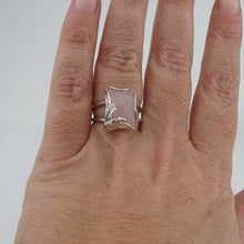 Silver Rose Quartz Ring ( r 10009q)