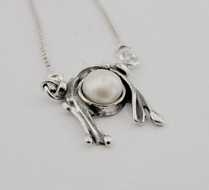 Sterling silver Pendant with freshwater Pearl