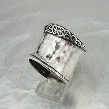 925 Sterling Silver filigree wide