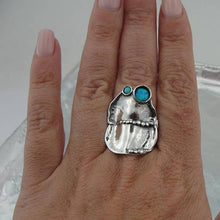 Fine opal Ring, 925 Stunning Sterling Silver opal Ring, Handcrafted Ring, Israel Jewelry, blue Stone Ring (167)