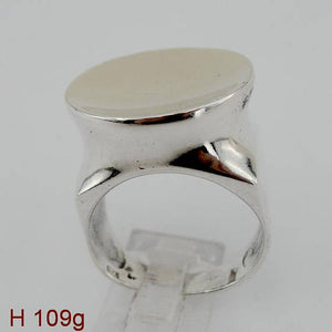 Hadar Jewelry Israel Art 925 Sterling Silver Yellow Gold 9k Ring size 8, Handmade, Gift, Birthday (h 109g)