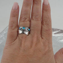 Fine opal Ring, 925 Sterling Silver ,blue stone ring. blue opal ring , Free Shipping, Israeli Jewelry, Gift (1881
