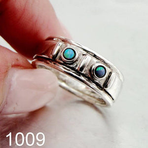 Fine opal Ring, 925 Sterling Silver , opal stone ring. blue opal ring , Free Shipping, Israeli Jewelry, Gift (1009