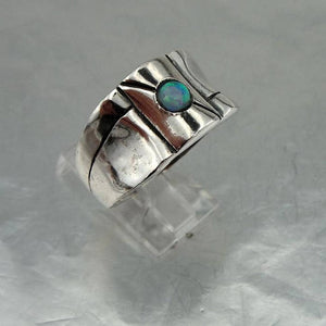 Hadar Israel Art Silver Opal Ring 11 and can be resize (H 1003)Y