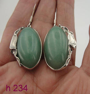 Jede errings New Israel Handmade Fabulous Sterling Silver 925 , jede stone , Earrings (H 234)