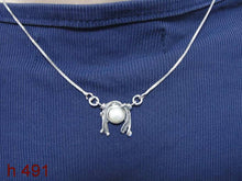 HADAR Israel Beautiful Sterling Silver and pearl Handmade Design Pendant ,gift , (d4012