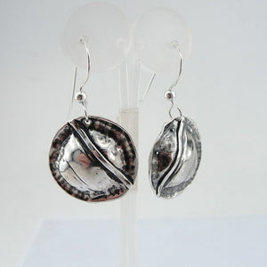 Hadar NEW Handmade round Art Silver 925 , Earrings (H)Y