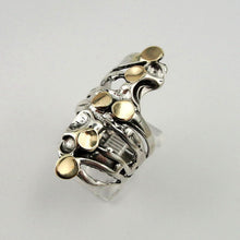 Sterling Silver Yellow Gold Ring