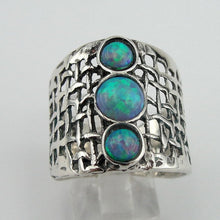 Silver Rings with Opal  (h 142b)