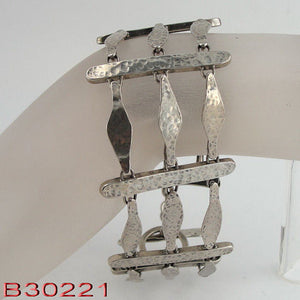Handmade sterling Silver Rope Ladder shape Bracelet (b30221)