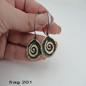 Sterling silver & 24K gold Earring