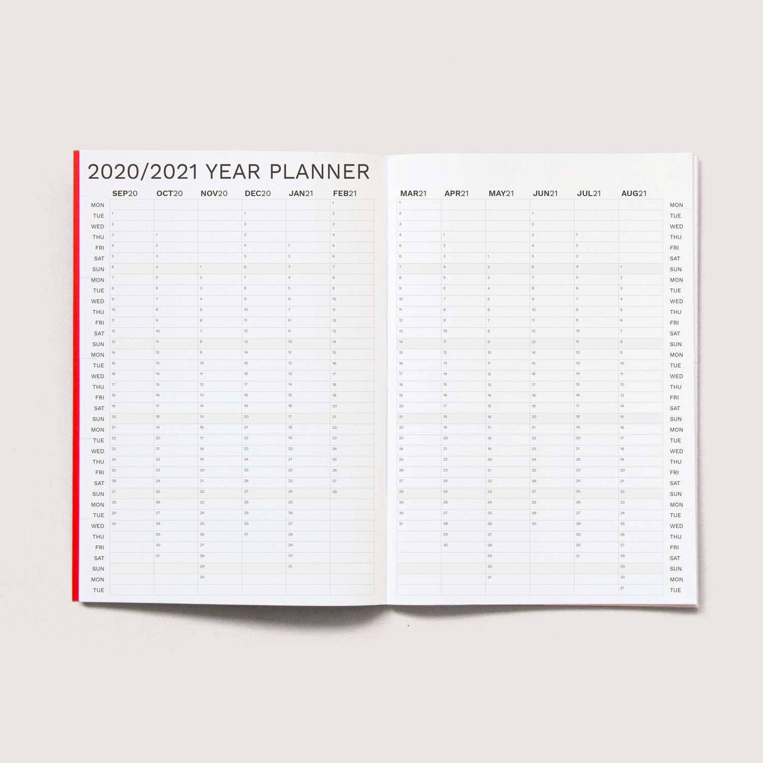 PLANNER Octagon 2020-2021 monthly planner big A4