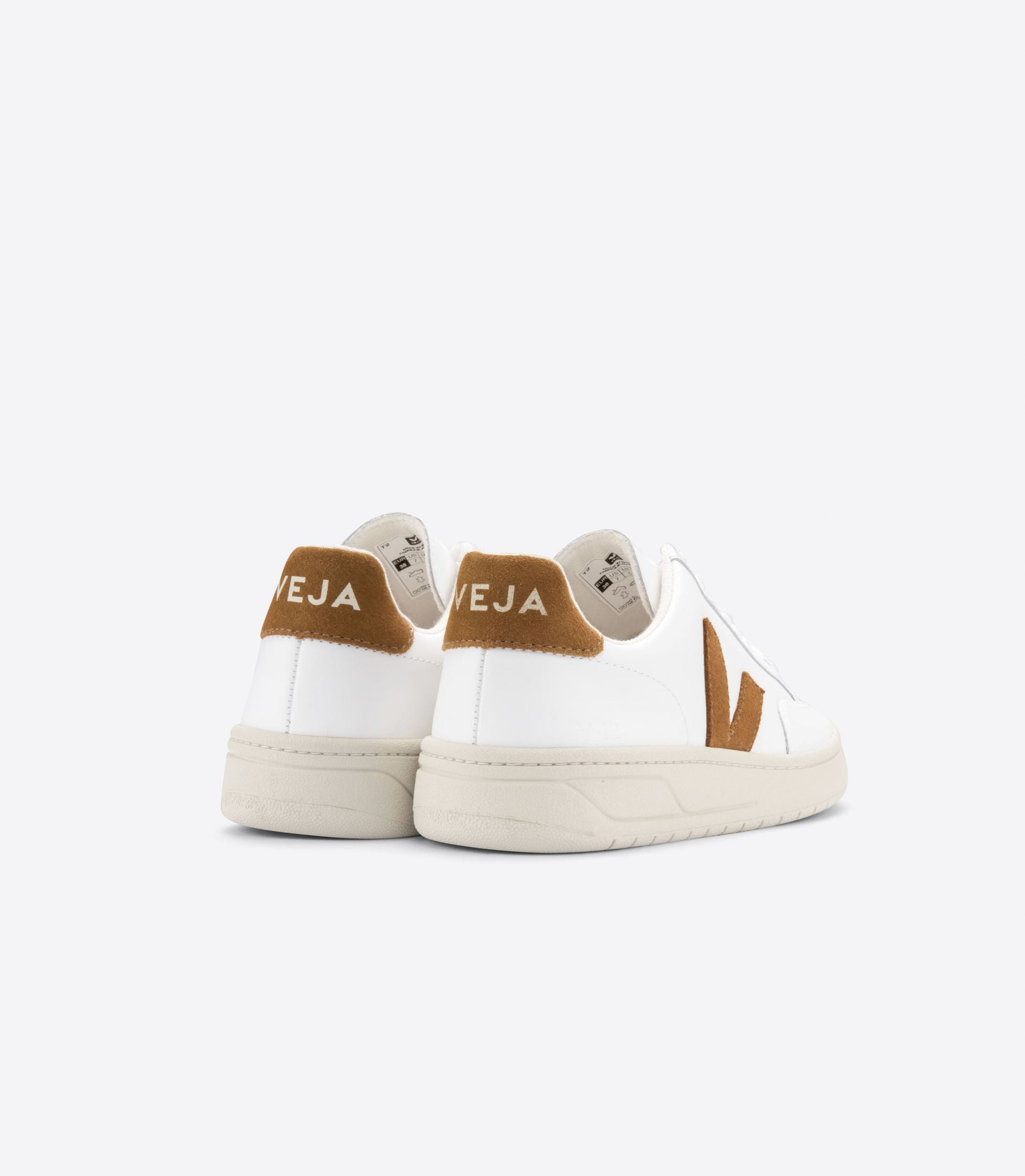 DEPORTIVAS Veja V-12 LEATHER EXTRA WHITE CAMEL