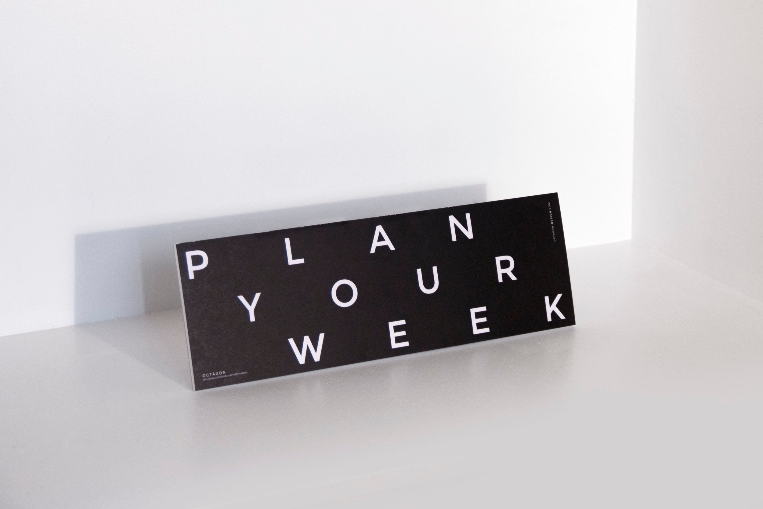 PLANNER Octagon plan your desk (weekly)