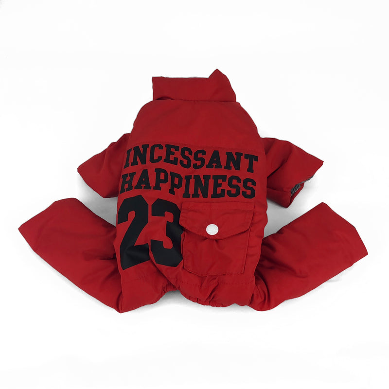 Manteau ''Incessant Happiness 23'' Rouge