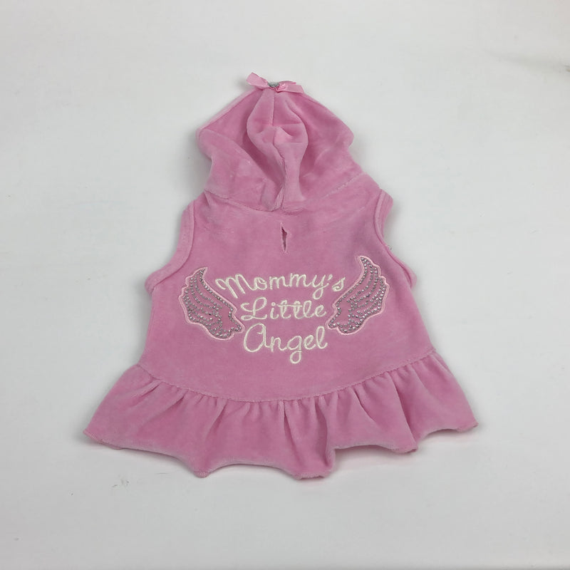 "Robe coton ouaté sans manches "" Mommy's little angel"""