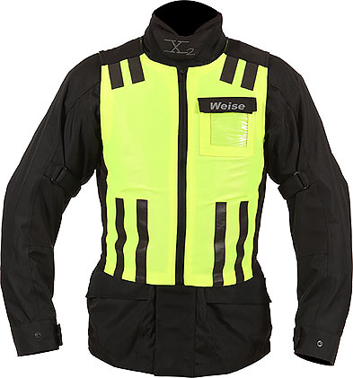 WEISE Neon Yellow Reflective Hi Visibility Stretch Vest