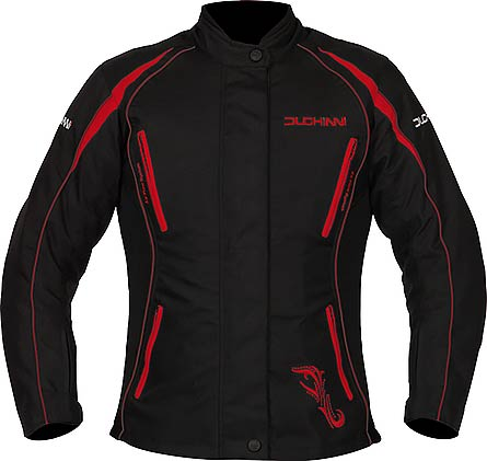 DUCHINNI VERONA 4 Season Vented Womens Motorcycle Jacket with Side Stretch Panels and Waterproof/Thermal Liners