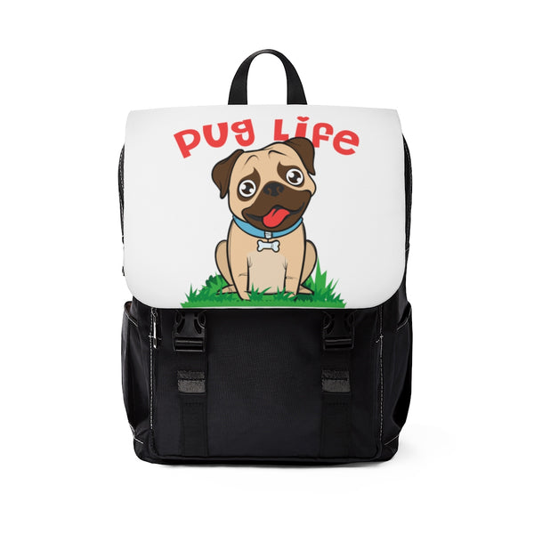 Pug Unisex Casual Shoulder Backpack