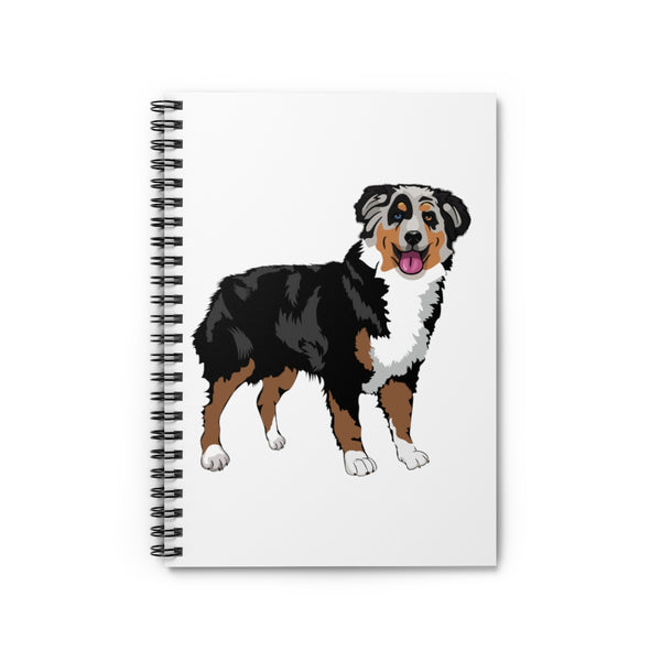 Australian Shepherd Spiral Notebook - Ruled Line