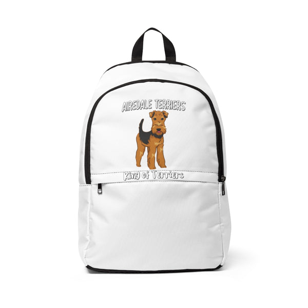 Airedale Terrier Unisex Fabric Backpack