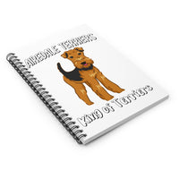 Airedale Terrier Spiral Notebook - Ruled Line, Journal