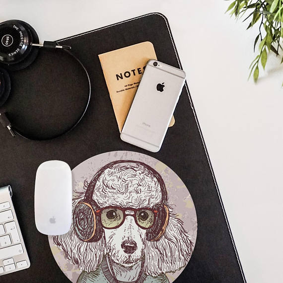 Poodle Painting Mouse Pad Mouse Mat Hipster Animal