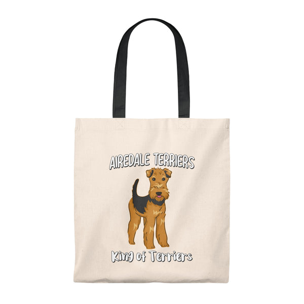 Airedale Terrier Tote Bag - Vintage, Makeup, Cosmetics, Travel Bag
