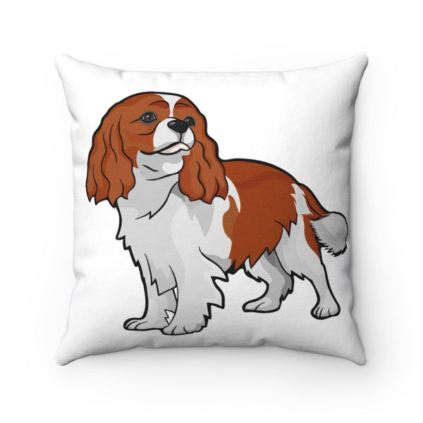 Cavalier King Charles Spaniel Spun Polyester Square Pillow