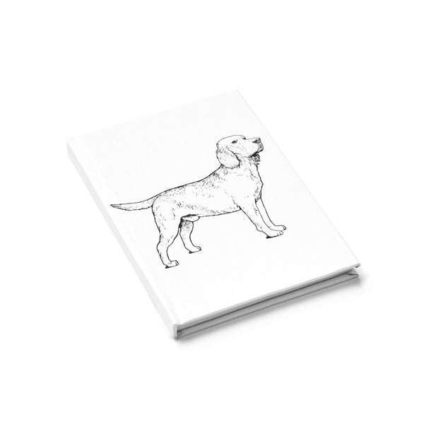 Labrador Retriever Journal - Ruled Line