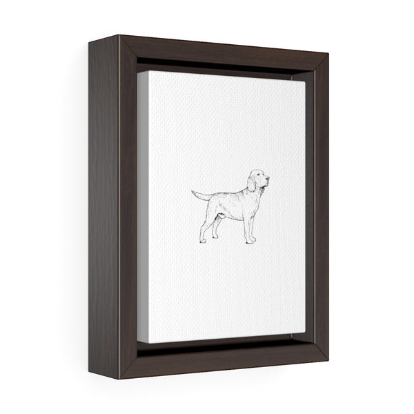 Labrador Retriever Vertical Framed Premium Gallery Wrap Canvas
