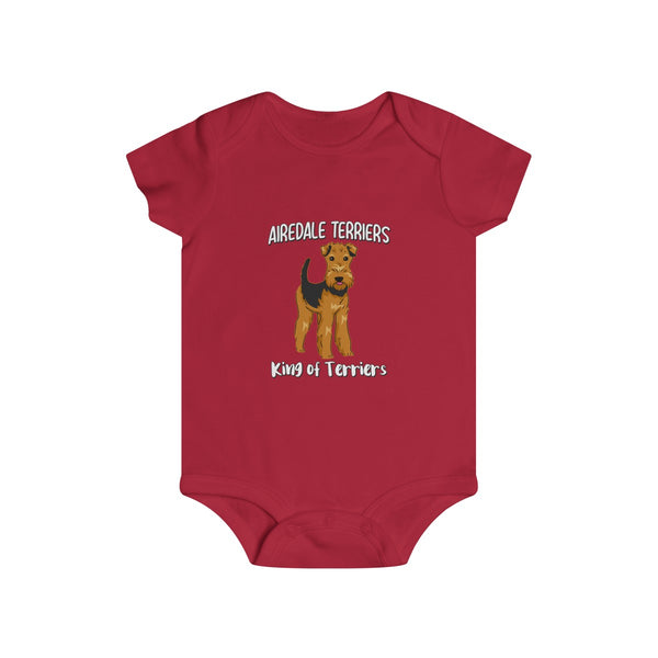 Airedale Terrier Infant Rip Snap Tee