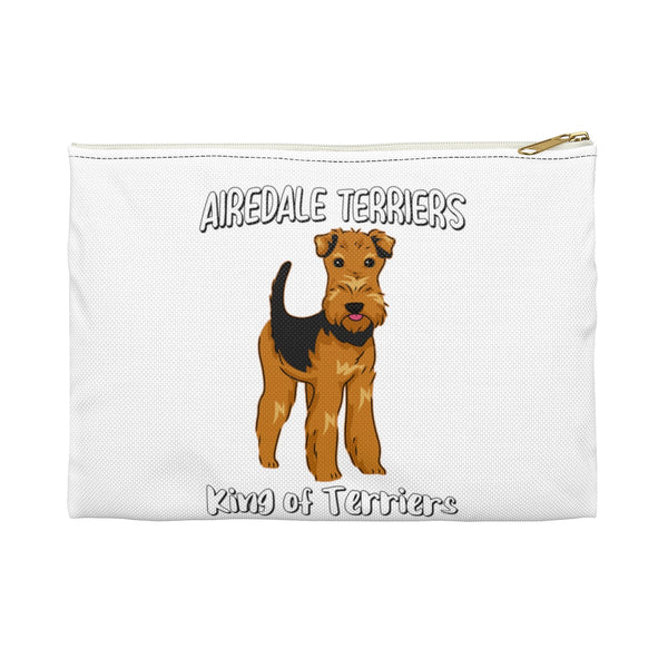 Airedale Terrier Accessory Pouch, Makeup Travel Bag,