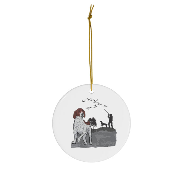 German Shorthaired Pointer Ceramic Ornaments
