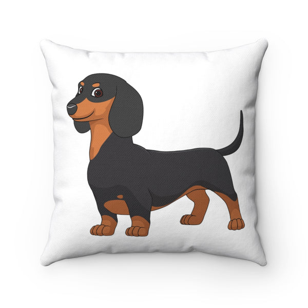 Dachshund Spun Polyester Square Pillow