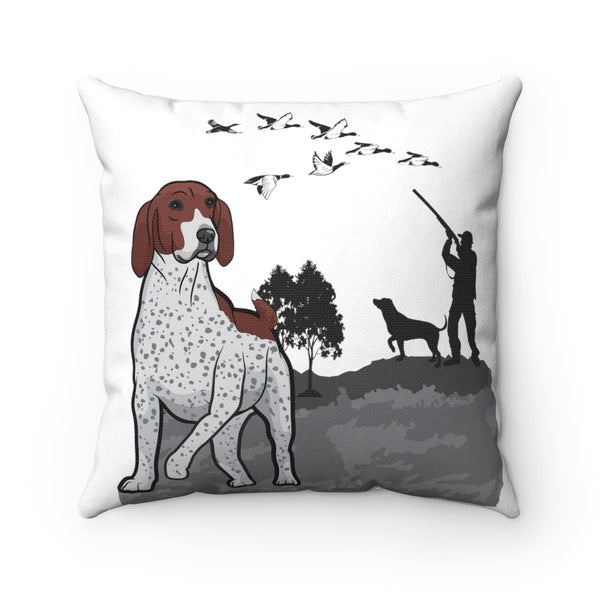 German Shorthaired Pointer Spun Polyester Square Pillow