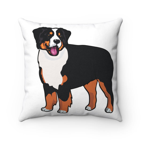 Bernese Mountain Dog Spun Polyester Square Pillow