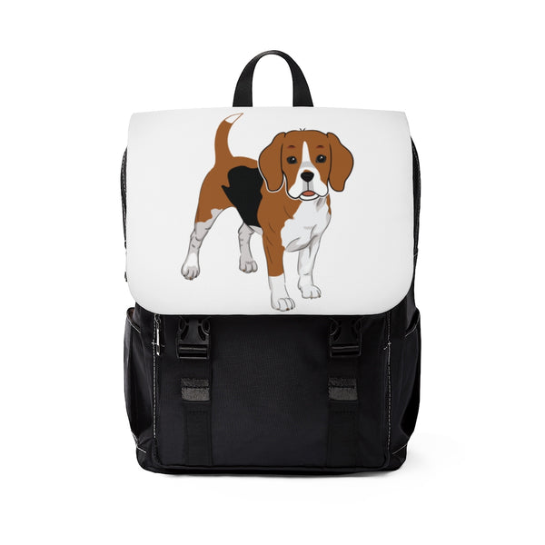 Beagle Unisex Casual Shoulder Backpack