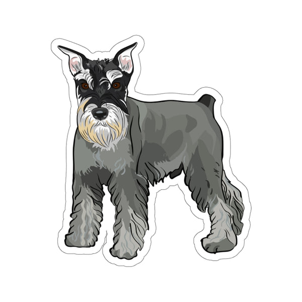 Miniature Schnauzer Kiss-Cut Stickers