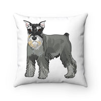 Miniature Schnauzer Spun Polyester Square Pillow