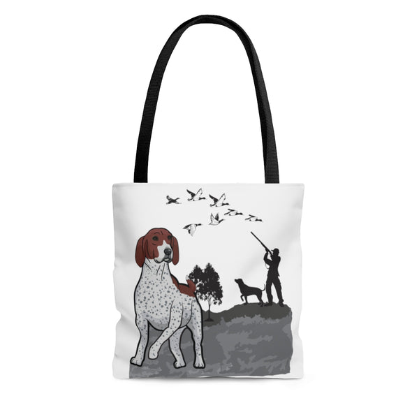 German Shorthaired Pointer AOP Tote Bag