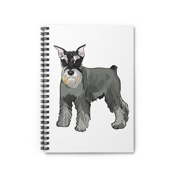 Miniature Schnauzer Spiral Notebook - Ruled Line