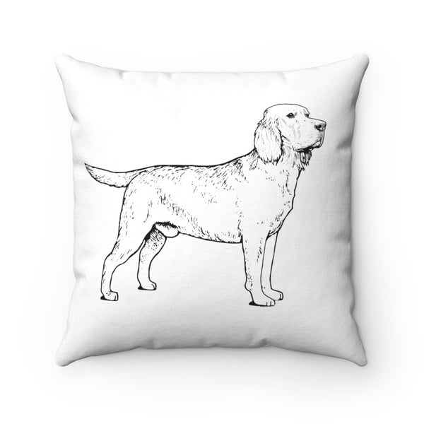 Labrador Retriever Spun Polyester Square Pillow