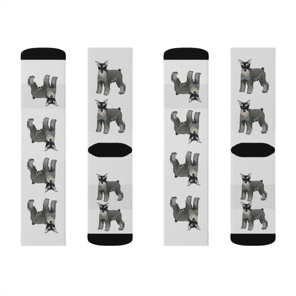 Miniature Schnauzer Sublimation Socks