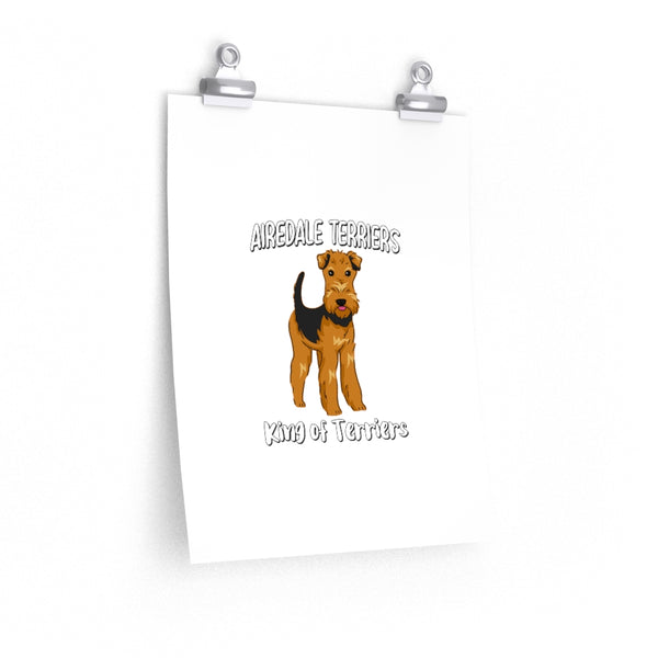 Airedale Terrier Premium Matte vertical posters