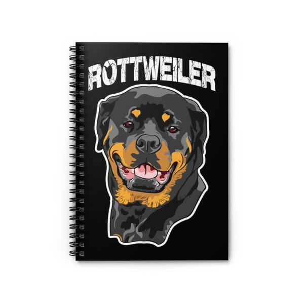 Rottweiler Spiral Notebook - Ruled Line