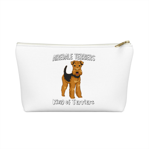 Airedale Terrier Accessory Pouch w T-bottom, Makeup, Cosmetic Travel Bag